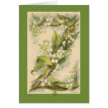 Z Flower Alphabet Lily of the Valley Greeting Cards