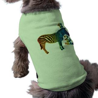 Z for Zebra Sleeveless Dog Shirt