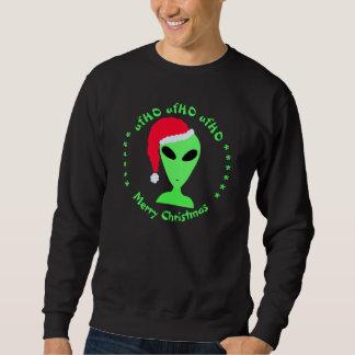 Z Fun Alien Santa Geek Humor Comical Funny LGM Sweatshirt