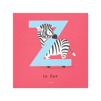 Z is for... canvas print
