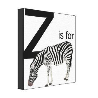 Z is for Zebra Cavas Canvas Print