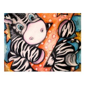 Z is for Zebra Postcard