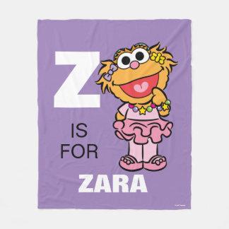 Z is for Zoe Fleece Blanket