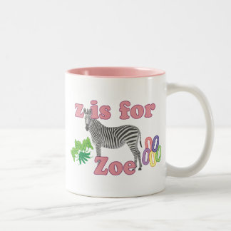 Z is for Zoe Two-Tone Coffee Mug