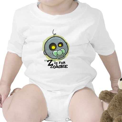 """Z"" is for Zombie (baby boys) T Shirt"