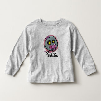 """Z"" is for Zombie (Girls) Infant Long Sleeve Toddler T-Shirt"