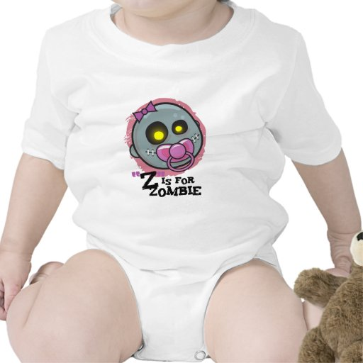 """Z"" is for Zombie with Pacifier (girls) Creeper"