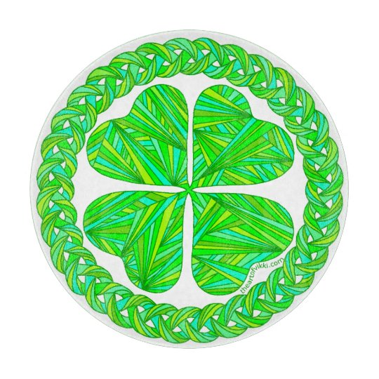 Z Lucky 4 Leaf Clover Celtic Shamrock Green