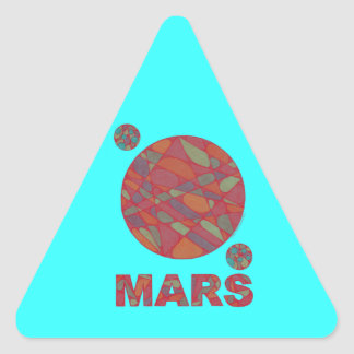 Z Mars Red Planet Art Triangle Stickers