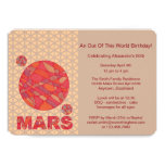 Z Mars The Red Planet Space Geek Solar System Fun 13 Cm X 18 Cm Invitation Card