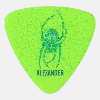 Z Neon Green Spider Spooky Halloween Fun Custom Plectrum