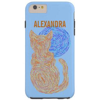 Z Orange Cat And The Moon Cat Lover Feline Kitten Tough iPhone 6 Plus Case