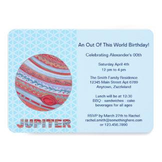 Z Planet Jupiter Colorful Space Geek Space Theme 13 Cm X 18 Cm Invitation Card