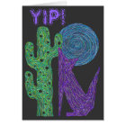 Z Purple Coyote Wolf Colourful Southwestern Design Card