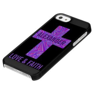 Z Purple Cross Christian Symbol Faith Religion Permafrost® iPhone SE/5/5s Case