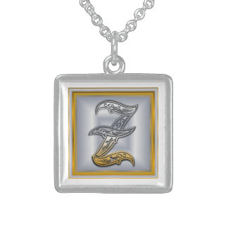 Z Royal Initial Monogram Necklace Pendants