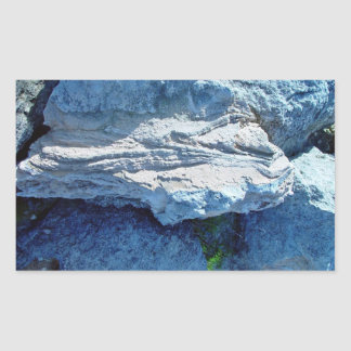 Z shaped layers in limestone rectangular sticker