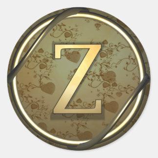 z round sticker