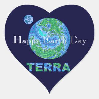 Z Terra Earth Art Happy Earth Day Stickers