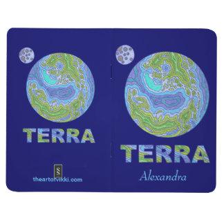 Z Terra Earth Space Geek Personalized Notebook Fun Journal