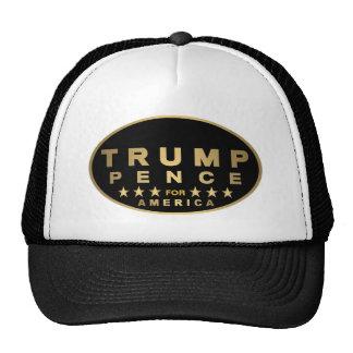 Z Trump Pence Gold Tone Oval Logo For America 2016 Cap