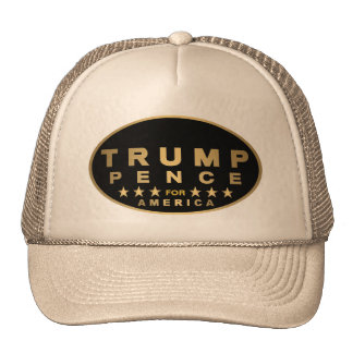 Z Trump Pence Gold Tone Oval Logo For America 2016 Cap