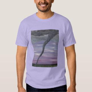 Z Twister Purple Gray Tornado Funnel Cloud Shirt