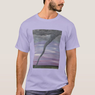 Z Twister Purple Gray Tornado Funnel Cloud T-Shirt