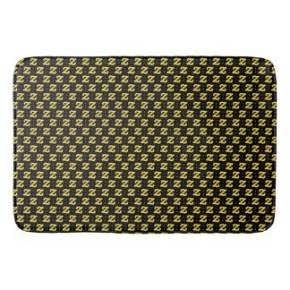 Z Yellow Black Large Bath Mat