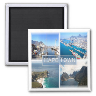 ZA * South Africa - Cape Town Square Magnet