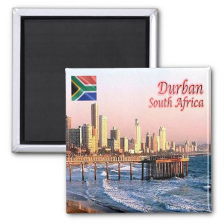 ZA - South Africa - Durban - Skyline Crop Square Magnet