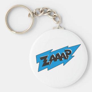 Zaaap Cartoon Bang Splat Basic Round Button Key Ring