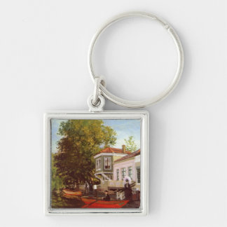 Zaan at Zaandam Silver-Colored Square Key Ring