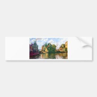 Zaandam, Canal by Claude Monet Bumper Sticker