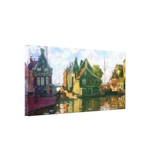 Zaandam Canal Gallery Wrapped Canvas