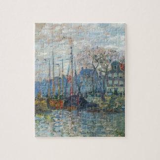 Zaandam, The Dike by Claude Monet Jigsaw Puzzle