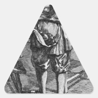 Zabaglia caricature of Nicholas, the Reverend Triangle Sticker
