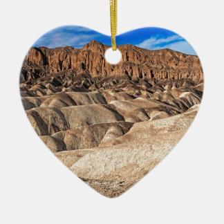 Zabriskie Point Badlands View Ceramic Heart Decoration