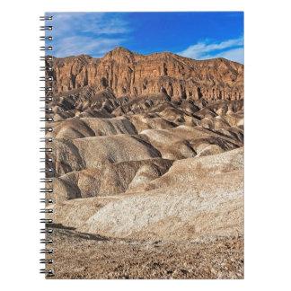 Zabriskie Point Badlands View Note Book