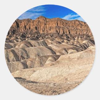 Zabriskie Point Badlands View Round Sticker