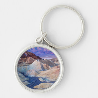 Zabriskie Point Before Dawn Silver-Colored Round Key Ring