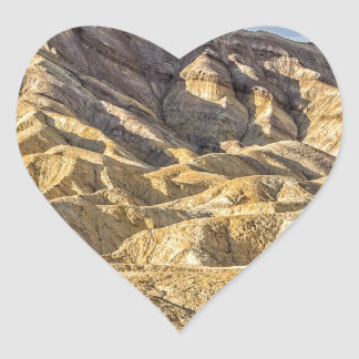 Zabriskie Point (Close-Up) Heart Sticker