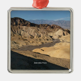 Zabriskie Point - Death Valley, California Silver-Colored Square Decoration