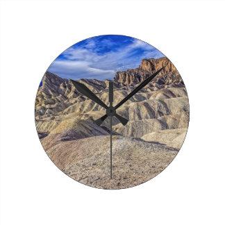 Zabriskie Point Panorama.jpg Round Wallclocks