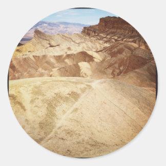 Zabriskie Point Round Sticker