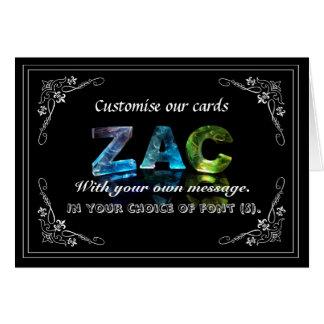 Zac -  Name in Lights greeting card (Photo)