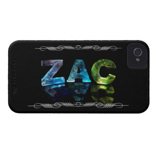 Zac - The Name Zac in 3D Lights (Photograph) iPhone 4 Case