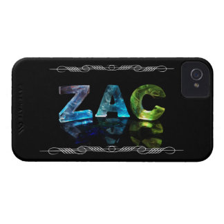Zac  - The Name Zac in 3D Lights (Photograph) Case-Mate iPhone 4 Case