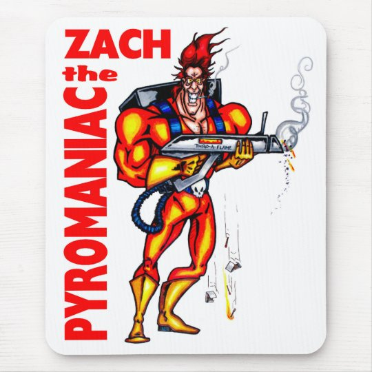 Zach the Pyromaniac Mouse Pad