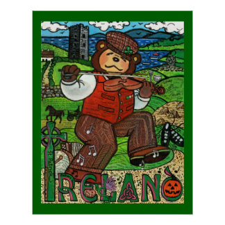 Zachary Bear's® Tribute to Ireland Poster
